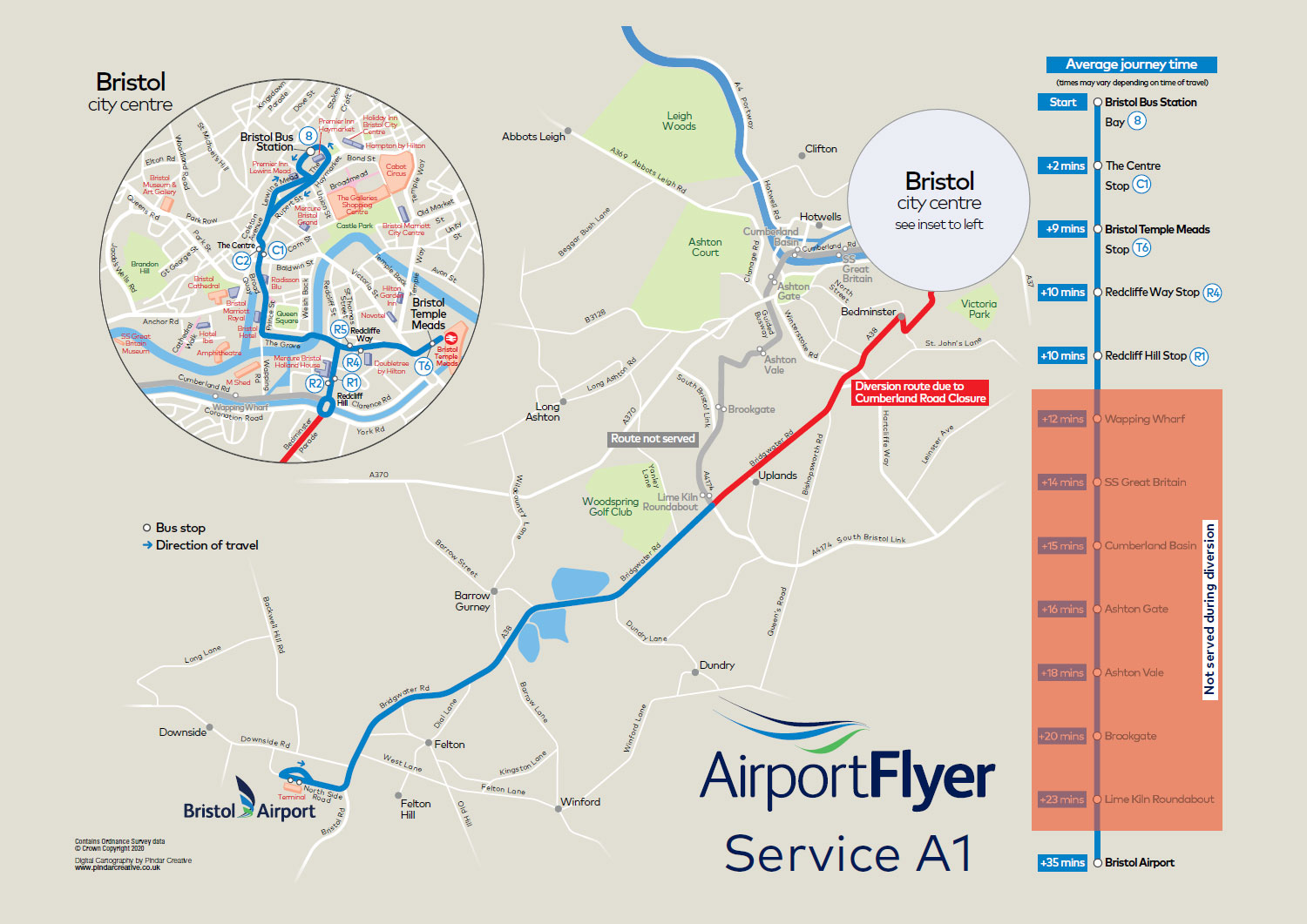 Stops and Maps | Bristol Flyer