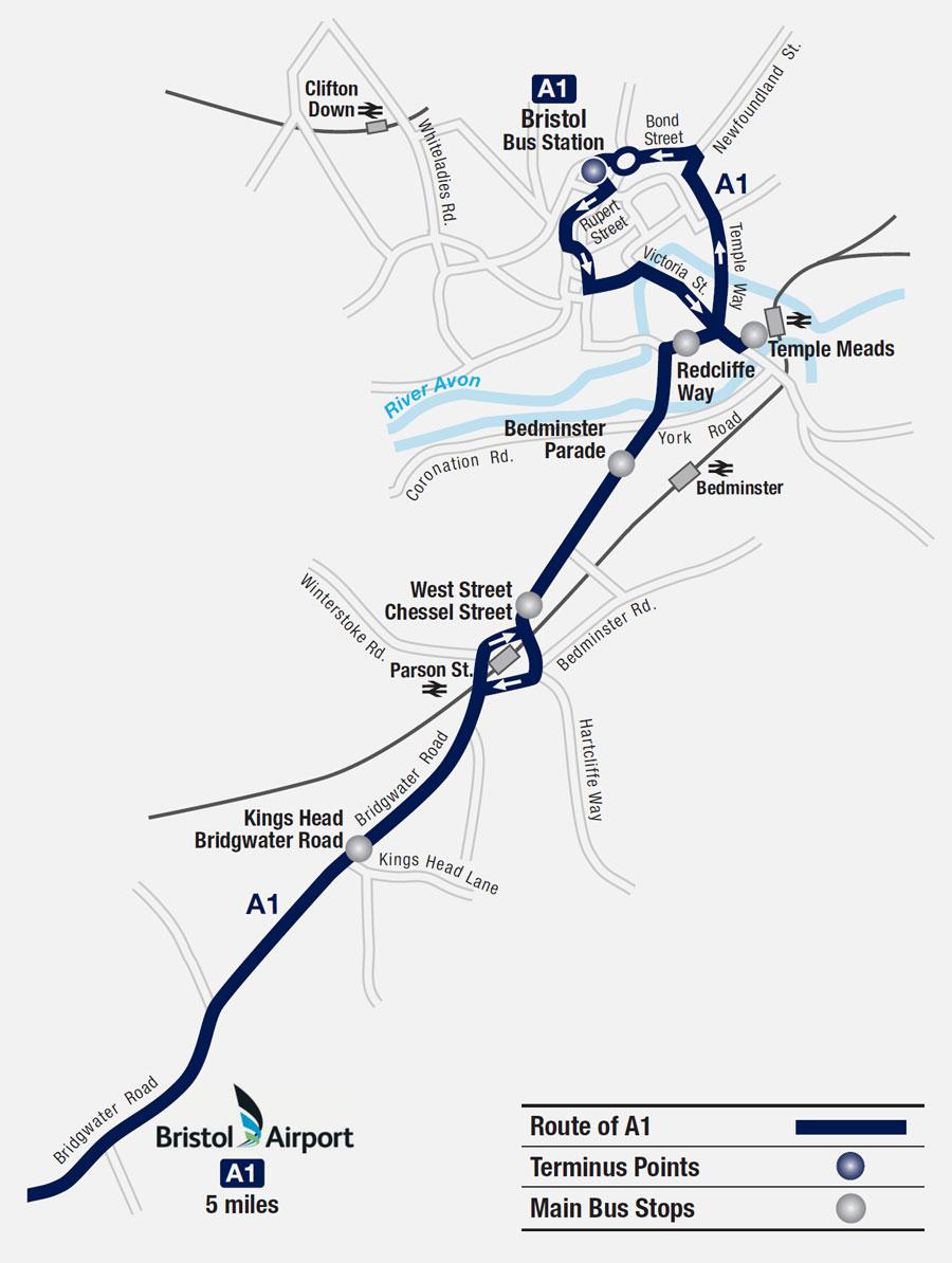bristol route map