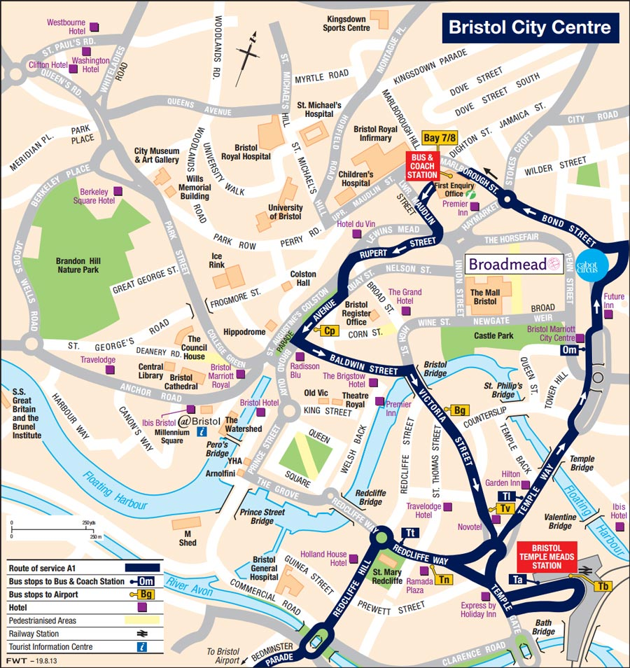 Stops and Maps Bristol Flyer